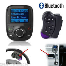 Car Kit Steering Wheel Bluetooth LCD FM Transmitter Radio MP3 Player USB Charger