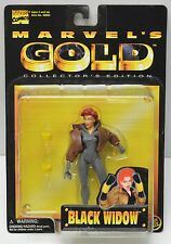 Toy Biz Marvel's Gold 1998 Avengers Marvel BLACK WIDOW Action Figure NIP