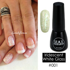 MAX 7ml Nail Art Color UV LED Soak Off Gel Polish #001-Iridescent White Glass