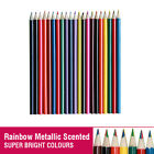 21 Assorted Colour Pencils Scented Rainbow Metallic For Art Drawing Sketching