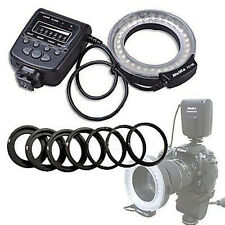 Meike LED Macro Ring Flash Light FC-100 F Canon Nikon Pentax Olympus DSLR Camera