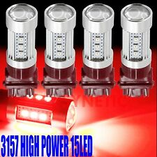 4x High Power 2835 Chip 3157 3057 Red Brake Tail Stop LED Light Projector Bulbs