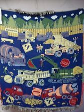 USA Made NWT Road Works Triple Woven Tapestry Throw Blanket Afghan #530
