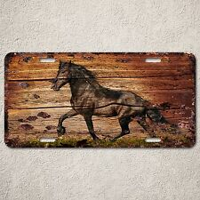 LP0163 Old Vintage Black Horse Sign Auto License Plate Home Store Gift Decor