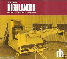 Farm Equipment Brochure - Whitsed Highlander Potato Vegetable  Harvester (F2161)
