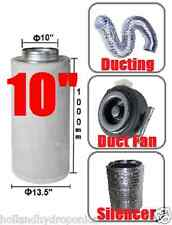 "10"" inch carbon filter+ducting+duct fan+silencer kits for Hydroponics Grow Room"
