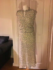 LAURA ASHLEY 100% silk floral devoré occasion dress, UK 10 12 STUNNING Vintage