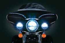 Kuryakyn LED Halo Headlight & Pass Lamps Trim Rings SET Harley Dresser 1983-2013