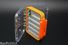 Super ABS Plastic Waterproof Fly Fishing Double Side Fly Fishing Box 152x100x44