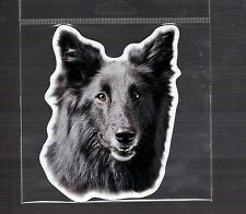 Black German Shepherd 4 inch face magnet for anything metal