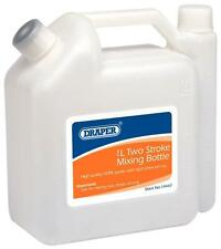2 (Two) Stroke Mixing Bottle 1 Litre Mix Oil & Petrol By Draper Tools 14447