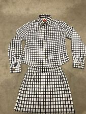 VIVIENNE WESTWOOD-VINTAGE-RED LABEL-GINGHAM CHECKED-SHIRT & MINI SKIRT SET.