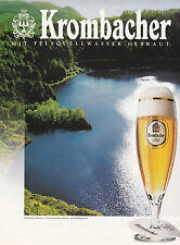 KROMBACHER ANNONCE PUBLICITAIRE1992 GERMANY ADVERTISING BEER - COUPURE MAGAZINE