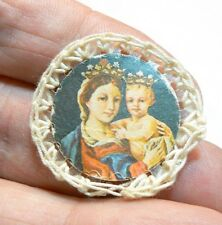 """VINTAGE MINIATURE """"MY MOTHER MY CONFIDENCE""""  BADGE"""