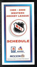 1999-00 Western Hockey League Schedule