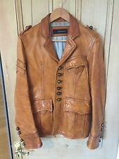 """Dsquared2 Mens """"Holy Grail"""" Military Leather Jacket Size 48 *Ultra Rare!*"""