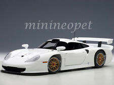AUTOart 89771 1997 PORSCHE 911 GT1 PLAIN BODY VERSION 1/18 DIECAST MODEL WHITE