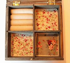WOODEN SQUARE JEWELLERY BOX STORAGE DISPLAY SHABBY CHIC RUSTIC - SALE!