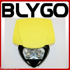 YELLOW Rec Reg Head Light Lamp + Strip PIT Trail Dirt Motrocycle Motorcross Bike