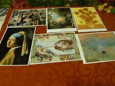lot 6,cartonnées reproductions     peinture XIX°avec recto vie du peintre