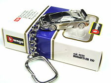 Burago Bugatti EB 110 Extremely rare Collectible chrome Plated Keyring 1:87