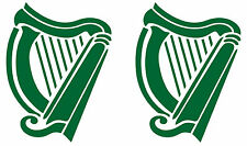 Irish Harp X2 Car Camper Caravan  Window Bumper Scooter Sticker Decal