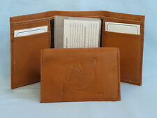 NEW JERSEY DEVILS    Leather TriFold Wallet    NEW    brown 2