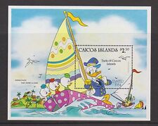 CAICOS ISLANDS MNH STAMP SHEET DISNEY DONALD DUCK EASTER 1984 SG MS54