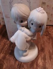 Precious Moments Ceramic-Love is Precious-Groom carrying Bride-E-9255-1983