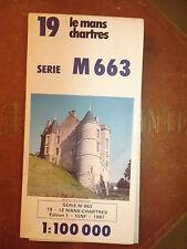 Carte IGN 19  serie M663 chartres  le mans   1987