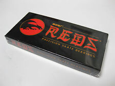 NEW BONES REDS SKATEBOARD BEARINGS PRECISION 8 PACK #608