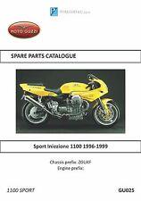 Moto Guzzi parts manual book 1996, 1997, 1998 & 1999 Sport Iniezione 1100