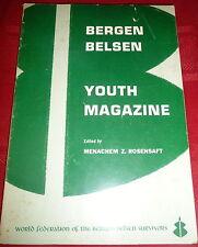 Bergen Belsen Youth Magazine, WW2 Jewish Holocaust,  Judaica