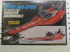 MPC Rupp Super Sno Sport Dragster Snowmobile 1/20 Model LARGE SCALE CASE FRESH