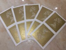 POST OFFICE Gold Postage Label Royal Mail Stamp X10 Queen Blank Limited Stock