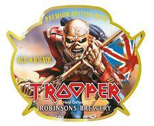 Iron Maiden beer logo sticker 5x4.5in BOGO
