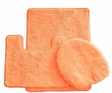 3 Piece Luxury Acrylic Bath mat set Made with 100% Polypropylene. (Peach)