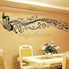 Butterfly Music Notes Removable Art Mural Decor Wall Room Decal Sticker Home New