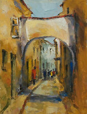 Post Impressionist Style Acrylic Painting on Panel - Framed - Late 20th Century