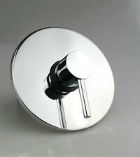 Wall Mounted Bathroom Shower Mixer Control Valve Plate with Handle Set