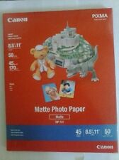 Canon PIXMA Matte Photo Paper, 8.5 x 11 Inches, 50 Sheets MP-101 NEW SEALED