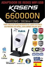 ADAPTER WIFI,KASENS 660000N,38dBI,3W,RALINK 3070,150MBPS,AM BESTEN WAS AWUS036NH