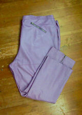 Pamela McCoy 3X Purple Lavender Leather Straight Pants Slacks Plus Size 24P