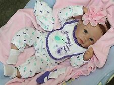 "MOMMY's LOVE! -Newborn 20"" Collectors Life Like Weighted Baby Girl Doll + Oufits"