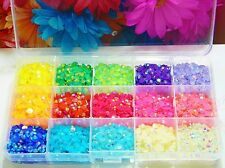 5250 5MM Jelly AB Flatback Resin Rhinestones DIY Craft Storage Box Case Deco Kit
