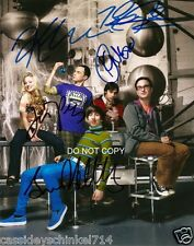 "The Big Bang Theory Reprint Signed 8x10"" Cast Photo #1 RP Autographed"