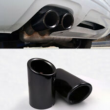 2Pcs New Black S-line Exhaust Muffler Tail Pipe Tip for Audi A4 B8 Q5 1.8T 2.0T