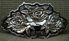FAMOUS STARS & STRAPS BELT BUCKLE BIG ROSES *NEW*