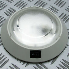 2 x CEILING LIGHT LAMPS 10W WHITE 12 VOLT MOTORHOME CARAVAN BOAT HORSEBOX