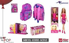 Barbie Doll Wooden bookends Backpack Combo All.brand new Girls play dolls